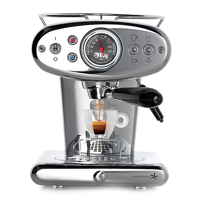 Alternate image 1 for illy® X1 Anniversary Single Serve Espresso & Coffee Maker in Stainless Steel