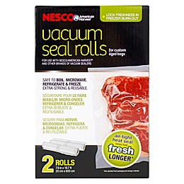 NESCO® 2-Pack 8-Inch x 20-Inch Vacuum Sealer Bag Roll