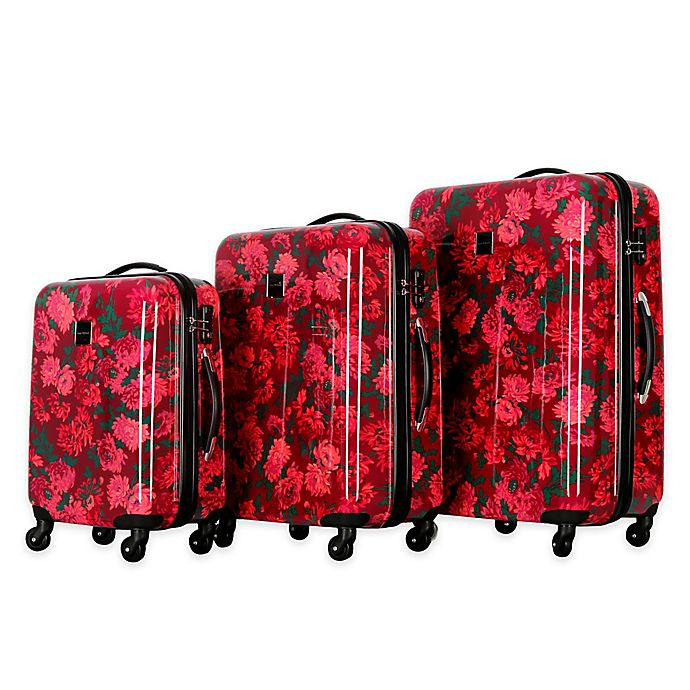 Alternate image 1 for Isaac Mizrahi Irwin II 3-Piece Hardside Luggage Set in Berry