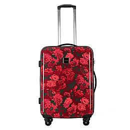 Isaac Mizrahi Irwin II 22-Inch Hardside Spinner Carry On Luggage in Berry