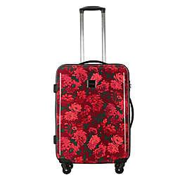 Isaac Mizrahi Irwin II 22-Inch Hardside Spinner Carry On Luggage in Berry