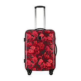 Isaac Mizrahi Irwin II Hardside Spinner Checked Luggage in Berry