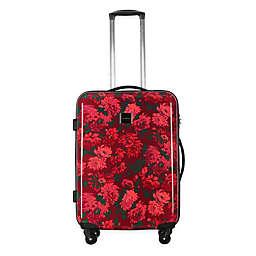 Isaac Mizrahi Irwin II 29-Inch Hardside Spinner Checked Luggage in Berry