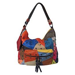 AmeriLeather QMetal Mini Skulls Shoulder Bag in Rainbow