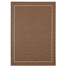 Balta Home Stanhope 7'10 x 10' Indoor/Outdoor Area Rug in Dark Brown