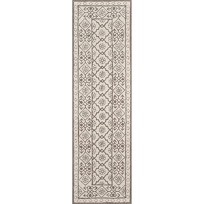 Alternate image 1 for Momeni Newport Tufted 2'3 x 8' Area Rug in Grey