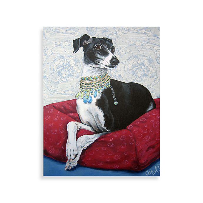 c58d73d81 Italian Greyhound on Red Wall Art