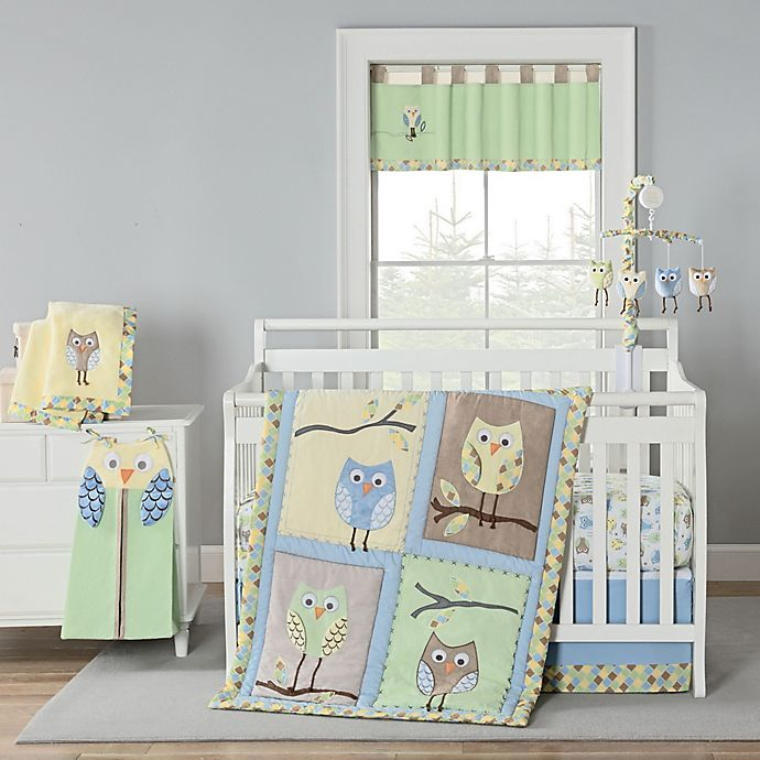 Alternate image 1 for New Country Home Mod Owl Crib Bedding Collection