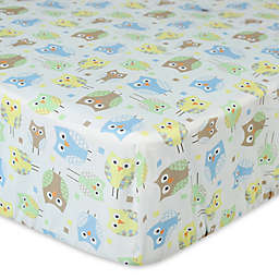 New Country Home Mod Owl Fitted Crib Sheet
