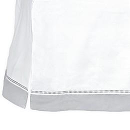 Just Born® Dream Broken Stripe Crib Skirt in Grey/White