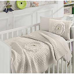 Nipperland® Floral 6-Piece Crib Bedding Set in Beige