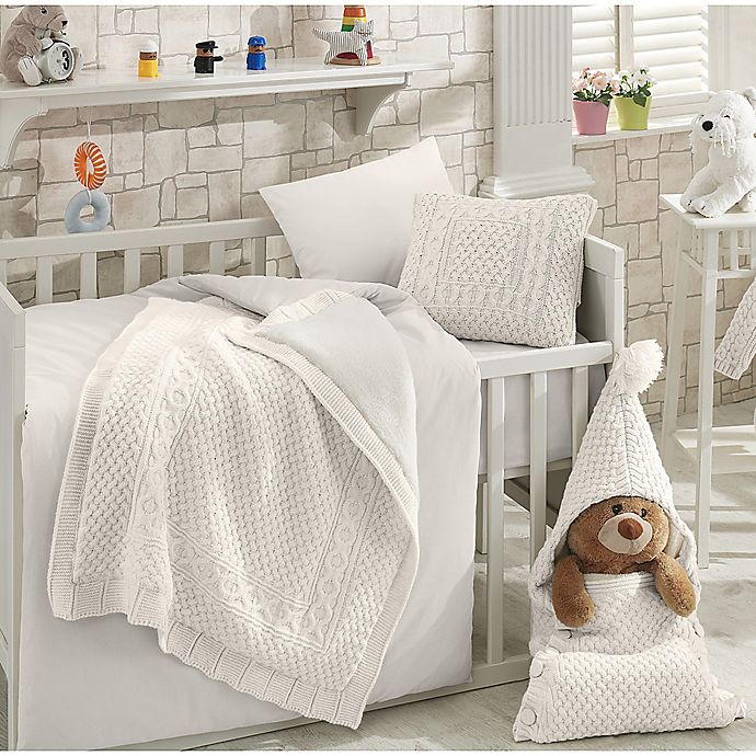 Nipperland Natural Crib Bedding Collection In Cream