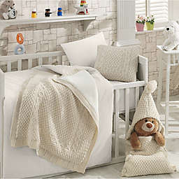 Nipperland® Natural 6-Piece Crib Bedding Set in Beige