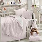 Nipperland® Natural 6-Piece Crib Bedding Set in Pink