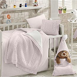 Nipperland Natural Crib Bedding Collection in Pink