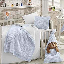 Nipperland® Natural 6-Piece Crib Bedding Set in Blue