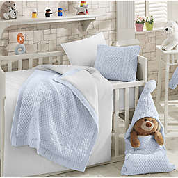 Nipperland® Natural 6-Piece Crib Bedding Set in Blue