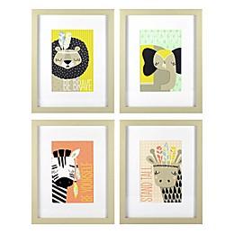 Linden Ave Explorer Animals 4-Pack Framed Artwork