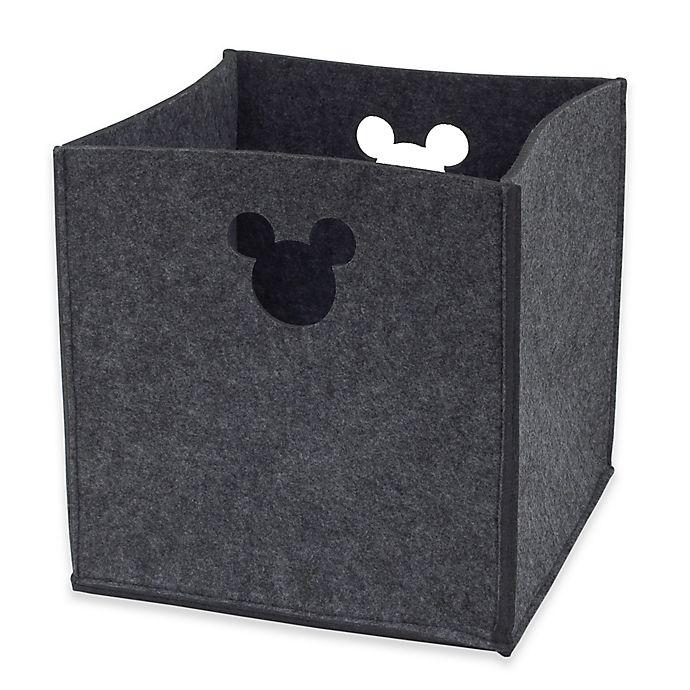Alternate image 1 for Disney® Mickey Mouse Storage Bin in Grey