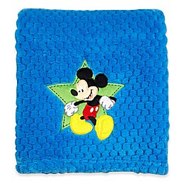 Disney® Mickey Mouse Popcorn Fleece Blanket in Blue
