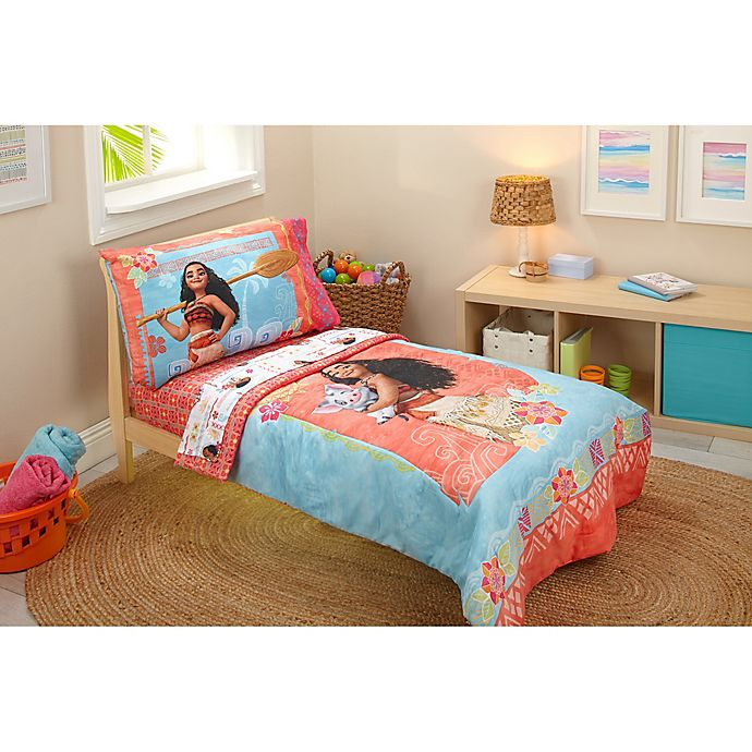Alternate image 1 for Disney® Moana 4-Piece Toddler Bedding Set