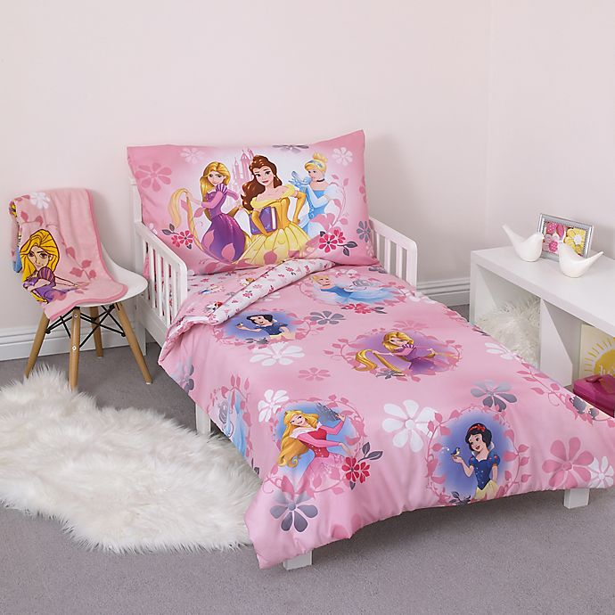Alternate image 1 for Disney® Princess 4-Piece Toddler Bedding Set