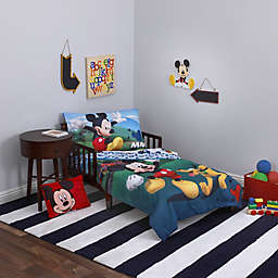 Disney® Mickey Mouse Playhouse 4-Piece Toddler Bedding Set