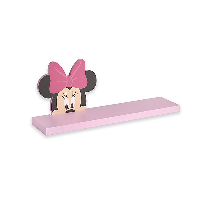 Alternate image 1 for Disney® Baby Minnie Mouse Shelf in Pink