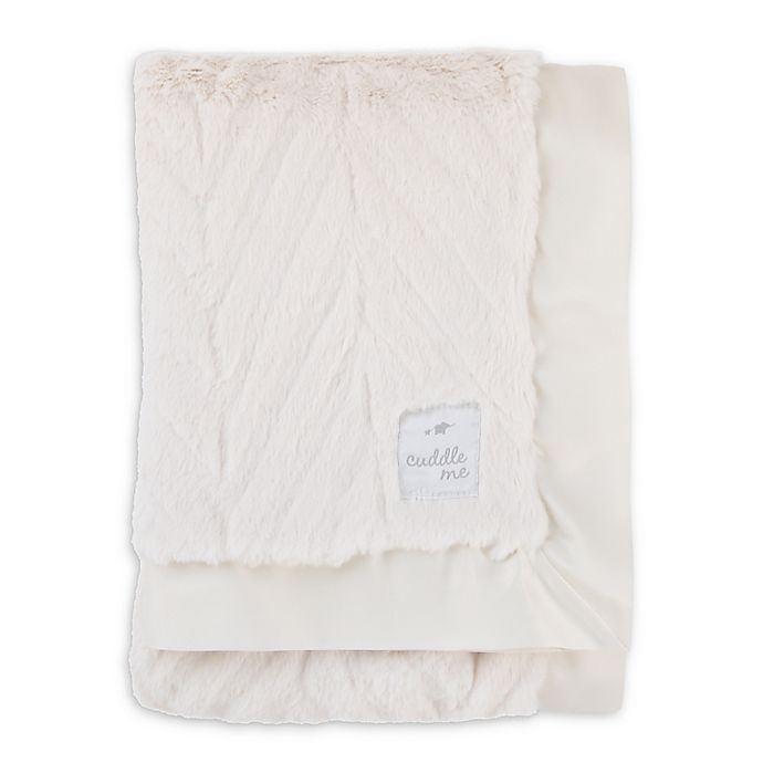 Alternate image 1 for Cuddle Me Chevron Plush and Velboa Blanket with Satin Border