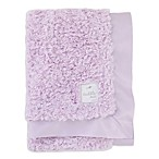 Cuddle Me Crushed Plush and Velboa Blanket with Satin Border in Lavender