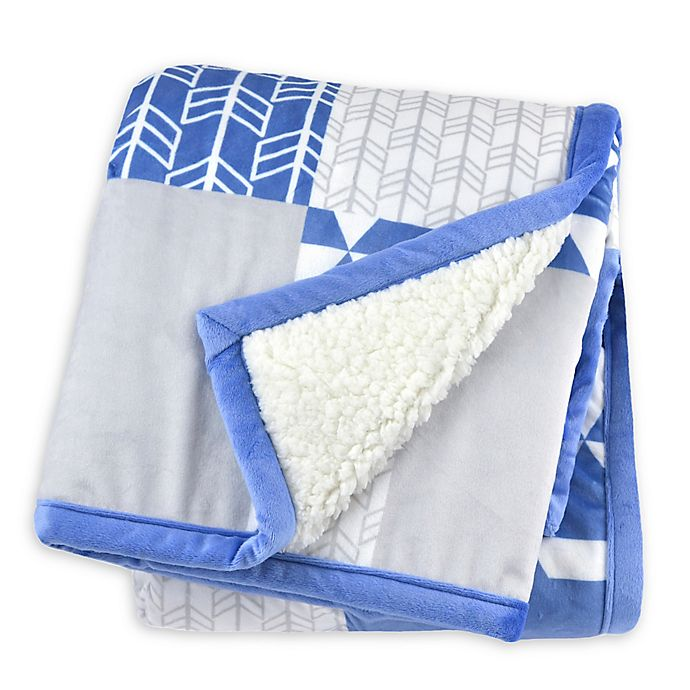Alternate image 1 for Just Born® Patchwork Plush Blanket