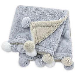 Just Born® Pom-Pom Plush Blanket