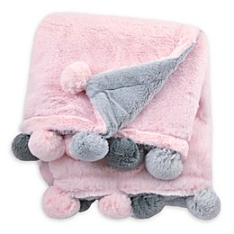 Just Born® Pom-Pom Plush Blanket