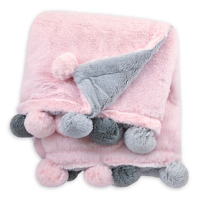 Alternate image 1 for Just Born® Pom-Pom Plush Blanket