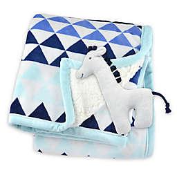 Just Born® Triangle Print Plush Blanket