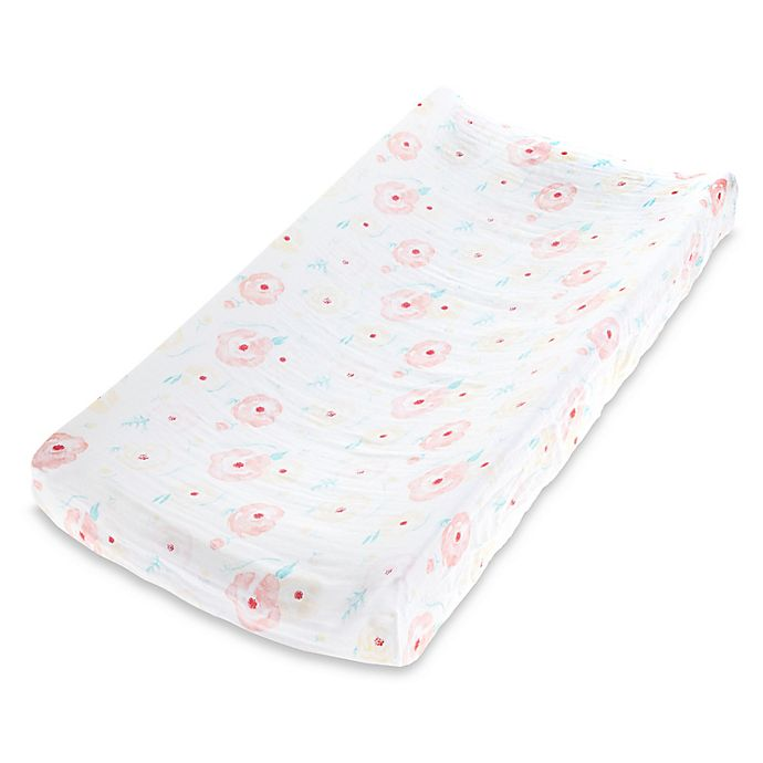Alternate image 1 for aden + anais™ essentials Full Bloom Muslin Changing Pad Cover