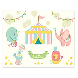 Courtside Market Little Circus 11-Inch x 14-Inch Canvas Wall Art