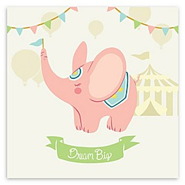 Courtside Market Circus Elephant 12-Inch Square Canvas Wall Art