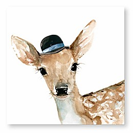 Courtside Market Critter Deer 12-Inch Square Canvas Wall Art
