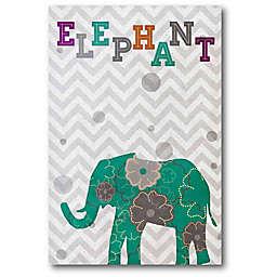 Courtside Market Emerald Elephant 18-Inch x 12-Inch Canvas Wall Art