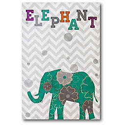 Courtside Market Emerald Elephant 18-Inch x 12-Inch Canvas Wall Art