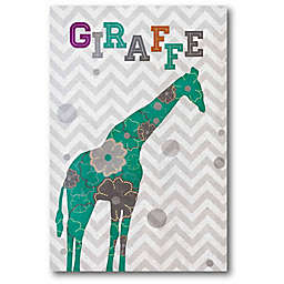 Courtside Market Emerald Giraffe 18-Inch x 12-Inch Canvas Wall Art