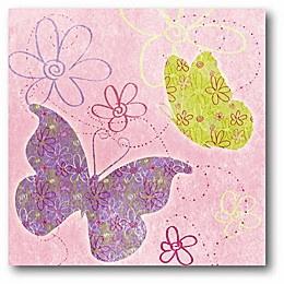 Courtside Market Fly Away II 12-Inch Square Canvas Wall Art in Purple