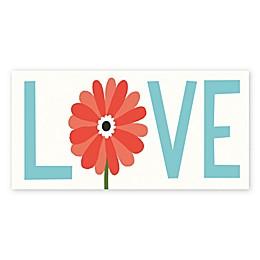 Courtside Market Seaside Love Bouquet 12-Inch x 24-Inch Canvas Wall Art