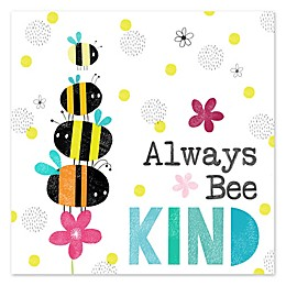 """Courtside Market """"Always Bee Kind"""" 12-Inch Square Canvas Wall Art"""