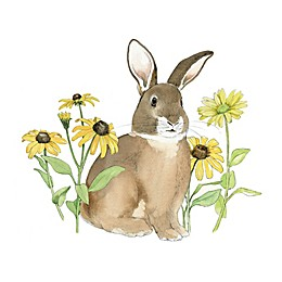 Courtside Market Wildflower Bunny I 16-Inch Square Canvas Wall Art