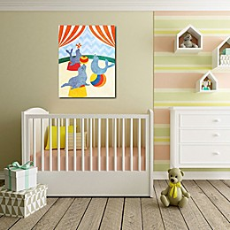 Courtside Market Elephants and Seals Center Stage II 11-Inch x 14-Inch Canvas Wall Art