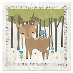 Courtside Market Woodland Hide Away Deer 16-Inch Square Canvas Wall Art