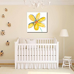 Courtside Market Summer Daisy 12-Inch Square Canvas Wall Art
