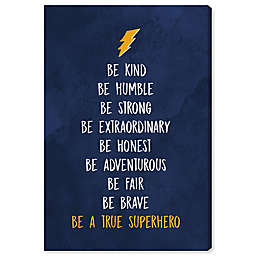Oliver Gal Be a True Superhero 10-Inch x 15-Inch Canvas Wall Art in Blue